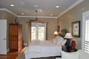 Beautiful master bedroom with private balcony.